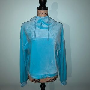 NWT, Women's XS, Blue, Flirtitude Crop Sweatshirt